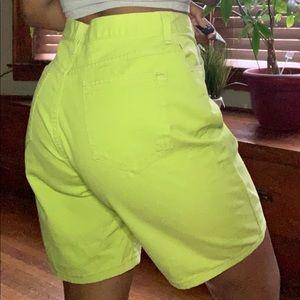 Levi's Shorts - Lime Green Jean shorts